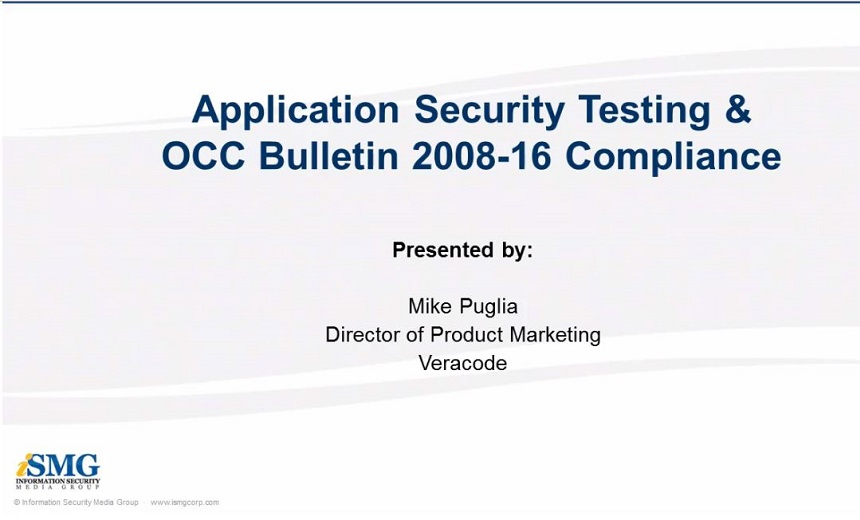 Application Security Testing and OCC Bulletin 2008-16 Compliance