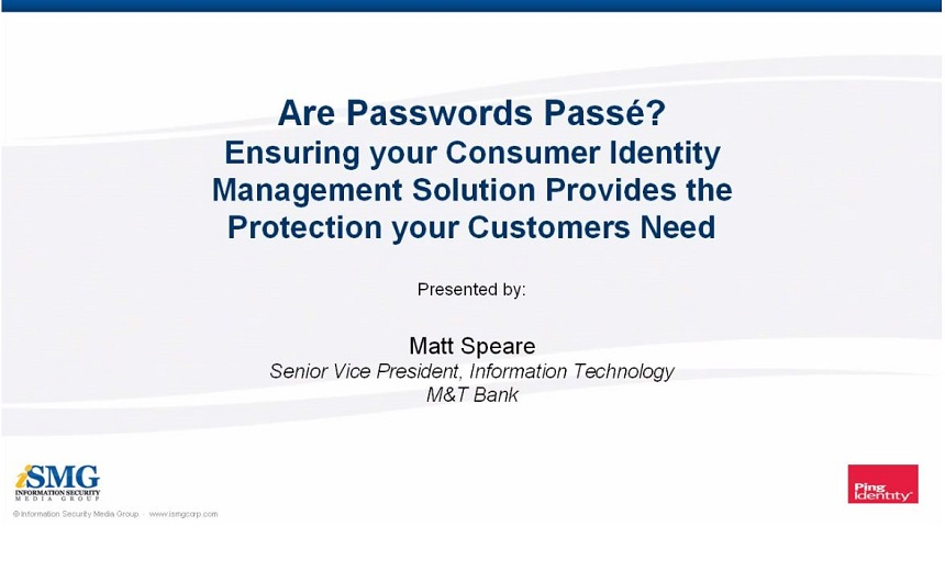Beyond Passwords: Best Practices for Consumer Authentication