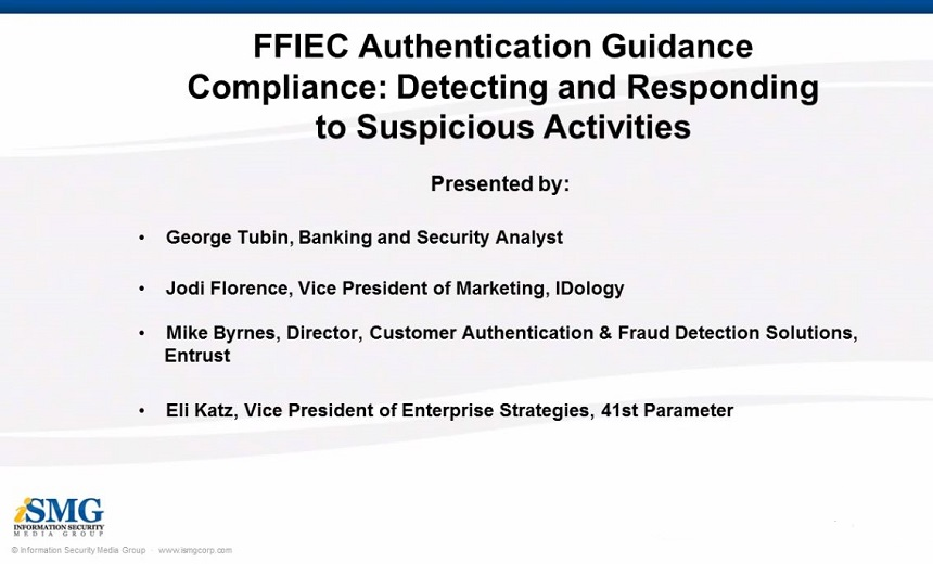 FFIEC Authentication Guidance Compliance: Detecting and Responding to Suspicious Activities