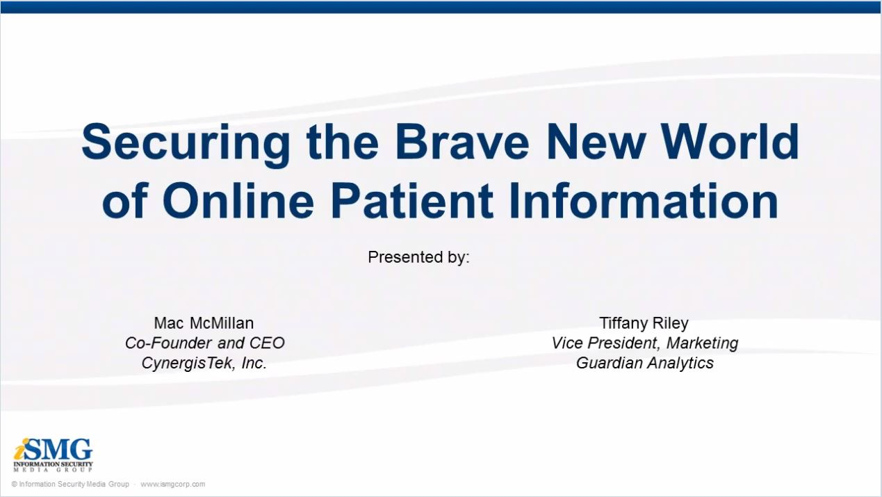 Securing the Brave New World of Online Patient Information
