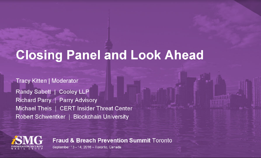 Toronto Summit - Closing Panel and Look Ahead